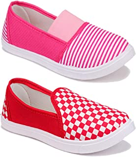 WORLD WEAR FOOTWEAR Women Multicolour Latest Collection Sneakers Shoes- Pack of 2 (Combo-(2)-11016-11023)