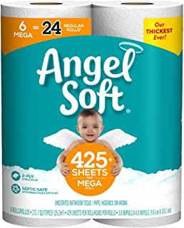 angel soft toilet paper 6 mega rolls
