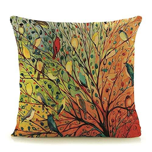 Funda sofá Funda De Almohada, Árboles Calientes De La Venta Plantas Imprimir Almohadas Decorativas Hogar (Color : G1 12, Size : 45x45cm no Filling)