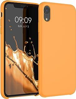 kwmobile telefoonhoesje compatibel met Apple iPhone XR - Hoesje met siliconen coating - Smartphone case in Cosmic Orange