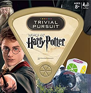 Step into the Hogwarts library and answer 600 questions based on the Harry Potter movies This Harry Potter merchandise is quick to play, easy to store, and convenient to carry Play Harry Potter Trivial Pursuit from the car, on family trips, or anywhe...