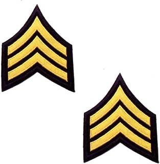 Gold Black Police Deputy Sheriff Security Sergeant Uniform Chevrons Patch 2
