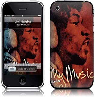 MusicSkins, MS-JIMI50001, Jimi Hendrix™ - Hear My Music, iPhone 2G/3G/3GS, Skin