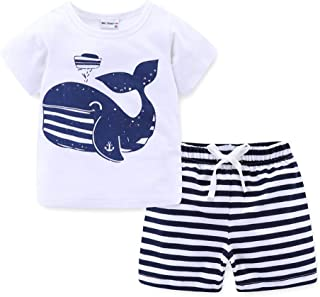 Mud Kingdom Little Boys Short Clothes Sets Beach Outfits Holiday
