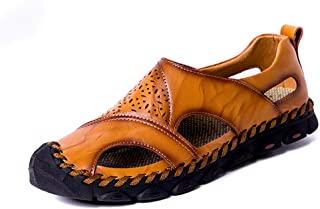 Xujw-shoes, Men's Sandals Fashionable Casual Hollow Out Classic Sculpture Toe-Proof Outdoor Water Shoes