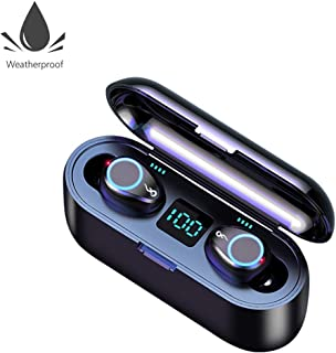 Wireless Bluetooth 5.0 Earbuds, Janker Sports in-Ear Stereo Sound Earphones With 2000 mah Charging Case Waterproof Headphones Compatible With iPhone Samsung Huawei Sony LG For Men Women