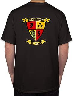Trooperbay 3rd Battalion 5th Marines USMC Marine Corp WWII Black Short Sleeve Shirt