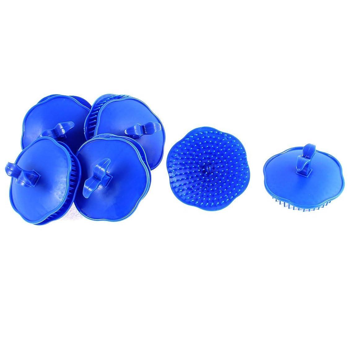uxcell シャンプーブラシ 洗髪櫛 マッサージャー プラスチック ダークブルー 10個