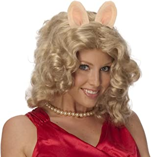 The Muppets Miss Piggy Curly Blonde Wig w/Ears & Pig Nose Costume Accessory Kit