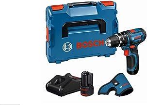 Bosch Professional 12V System Trapano-avvitatore con Percussione a Batteria GSB 12V-15, Include 2 Batterie da 2.0 Ah, Cari...