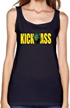 Feixia Women's Kick Ass DIY Cotton Tank Top