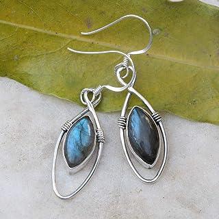 Labradorite Earring 925 Sterling Silver Handmade Jewelry Womens Jewelry Earrings For Girls