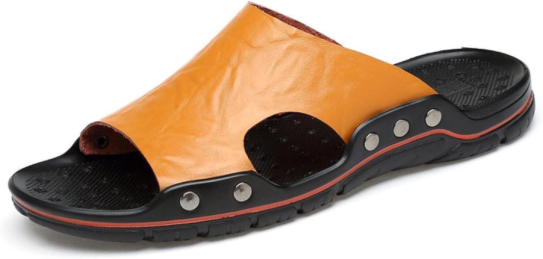 LYZGF Men Youth Summer Casual Slippers Fashion Beach Sandals
