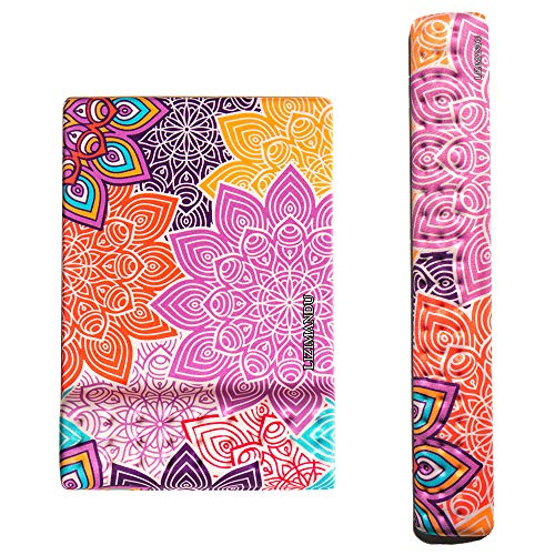 Cheliz Memory Foam Non Slip Mouse Pad Wrist Rest - Durable & Comfortable & Lightweight for Easy Typing & Pain Relief-Ergonomic Support (2-Colorful Flower)