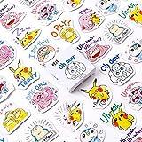 BLOUR Pokemon Pikachu Papier Petit Journal Mini Mignon boîte Autocollants Ensemble Scrapbooking Kawaii Flocons Journal Papeterie
