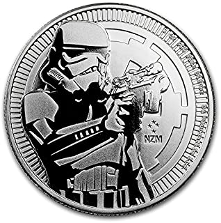 2018 NZ New Zealand Niue Stormtrooper - 1 oz pure Silver Coin - Part of the Star Wars Series $2 Brilliant Uncirculated BU