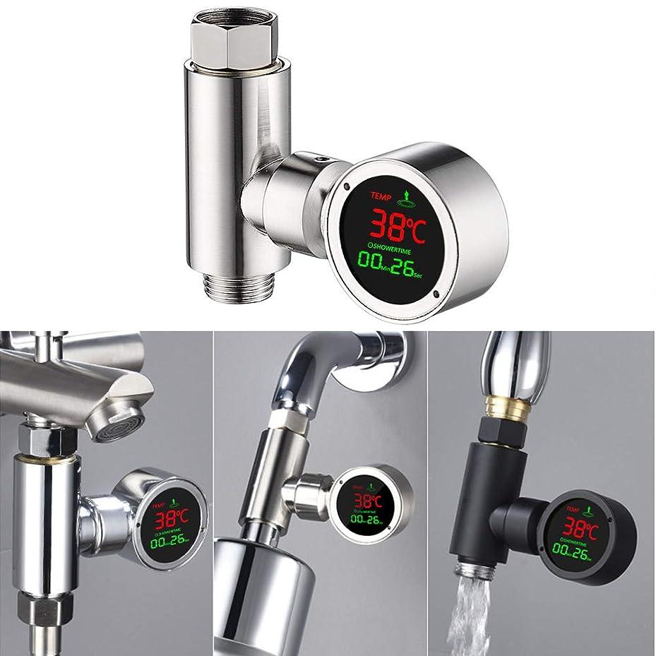 顧問立法占めるシャワー蛇口水温計、調整可能なLEDデジタルディスプレイ,C
