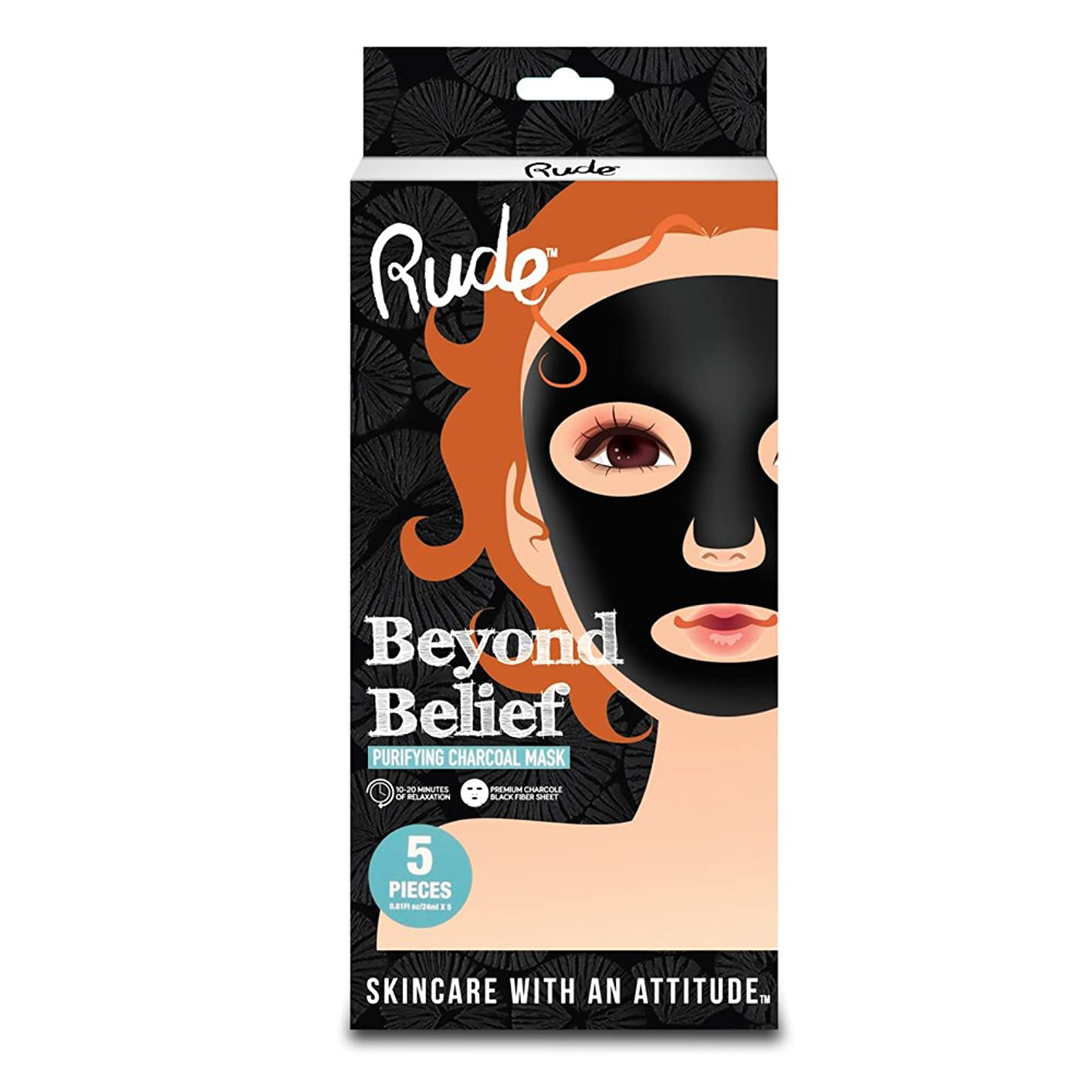 犯罪ライオンやろうRUDE Beyond Belief Purifying Charcoal Mask 5 Piece Pack (並行輸入品)