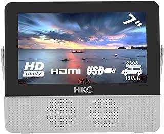 comprar comparacion HKC P7H6 Mini TV portátil (TV HD de 7 Pulgadas) HDMI + USB, 60Hz, Reproductor Multimedia, batería incorporada, Cargador de...