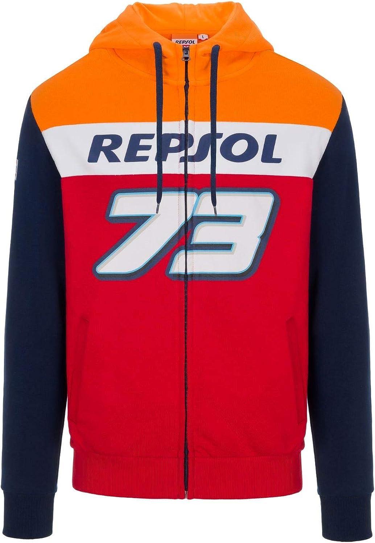 Repsol Honda Dual Zip Hoodie Alex Marquez 73 Big 73 Offizielle Motogp Bekleidung