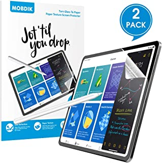 [2 PACK]Paper texture iPad Pro 11 Screen Protector(2020 & 2018 Models),iPad Pro 11 Screen Protector Write and Draw Like on Paper with Paper Texture Anti Glare Matte Surface with Easy Installation Kit