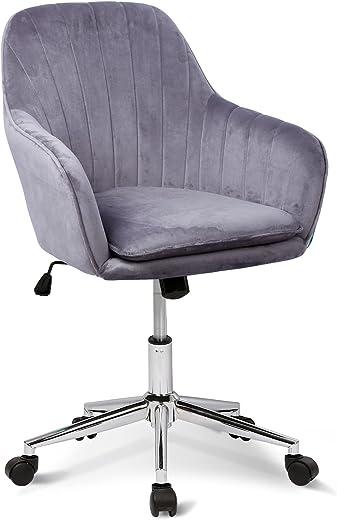 Bürostuhl Ergonomischer Schreibtischstuhl Bürohocker Arbeitshocker Moderner Drehstuhl mit Rollen Office Chair, Wippfunktion, Stufenlos…