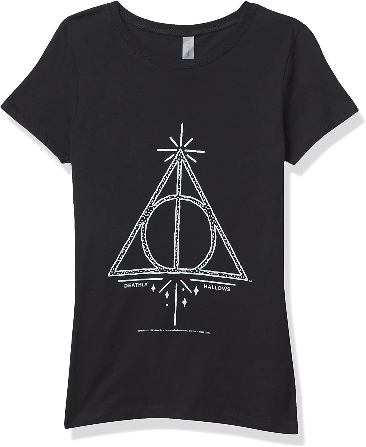 Fifth Sun Harry Potter Deathly Hallows Line Symbol Girl's Solid Crew Tee