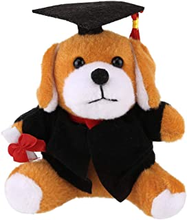 Gifts for You Now,Plush Graduation Toy with Cap and Gown Plush Toy Plush Dr.Dog,Dr.Duck,Dr.Monkey,Dr.Panda,Dr.Frog Cartoon Bouquet Doll (Style C)