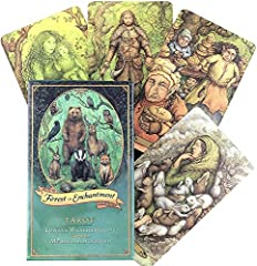 Forest of Enchantment Tarot 78 Cards Deck Game, English Pdf Guidebook, Fortunetelling about Love #1