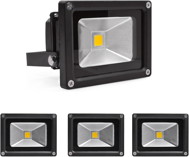 OUMIZHI 10W Fluter Strahler Warmwei Schwarz Aluminium Gehuse IP65 Wasserdicht LED Scheinwerfer Wandleuchter Flulicht Flutbeleuchtung LED Gartenlampe Auenstahler