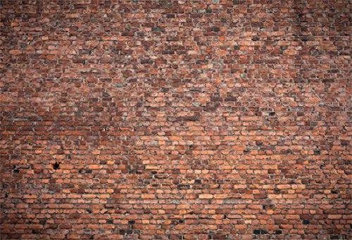 YongFoto 3x2m Vinyl Foto Hintergrund Ziegel Alt Dreckig Backstein Mauer Verwittert Textur Fotografie Hintergrund für Fotoshooting Portraitfotos Fotografen Kinder Fotostudio Requisiten