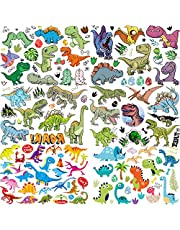 6 Vellen COKTAK 3D Dinosaurus Jongens Tijdelijke Tatoeages Kinderen Partij Meisjes Tatoeëren Set Kinderen Gezicht Tijdelijke Stickers Waterdichte Arm Hand T-rex Nep Tatoeages Kits Taptoe Handen Klein