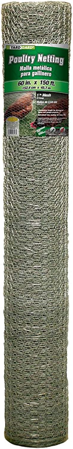 Mat 308434B 60-Inch by 150-Feet 1-Inch Mesh Galvanized Poultry Netting