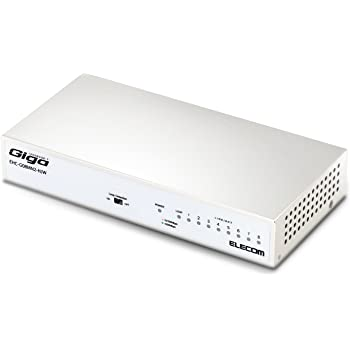 エレコム スイッチングハブ ギガビット 8ポート 金属筐体 マグネット付 電源内蔵 ホワイト EHC-G08MN2-HJW 通常パッケージ