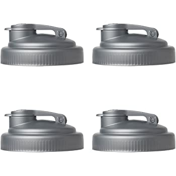 reCAP Mason Jars POUR Lids [4 Pack]   Wide Mouth   Canning Jar Lids   Silver   4 Pack   Made in America for Ball Kerr and more