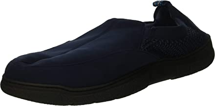 Dearfoams Men's Microsuede and Mesh Jungle Moccasin Slipper