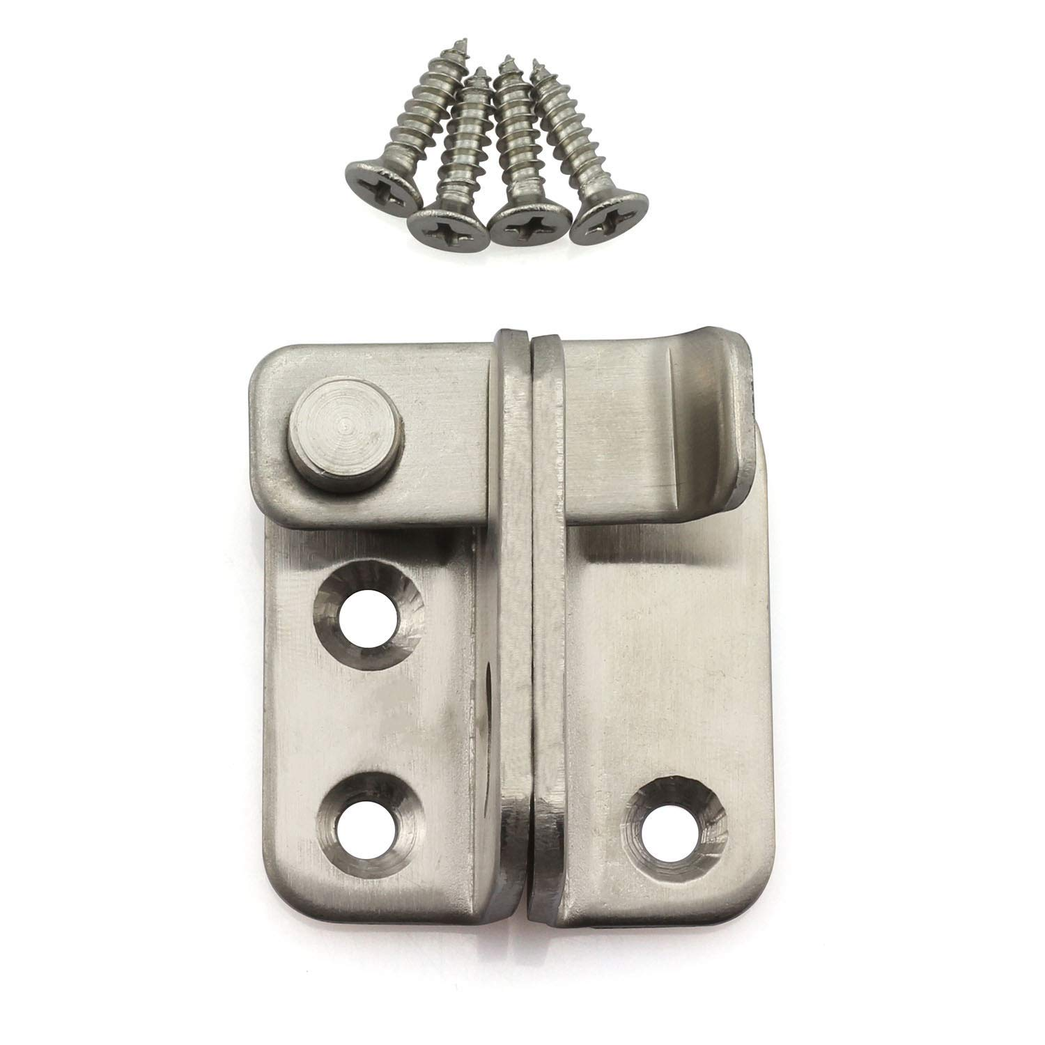 Tegg 1-Pack 4 Inch Padlock Door Hasp Latch Stainless Steel Safety Security Home Anti-Theft Guard Furniture Hasp Staple Hardware