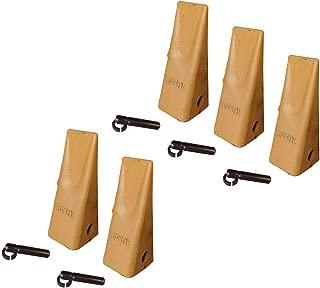 5 Caterpillar Style Backhoe Bucket Dirt Teeth w/Pins & Retainers - 1U-3202