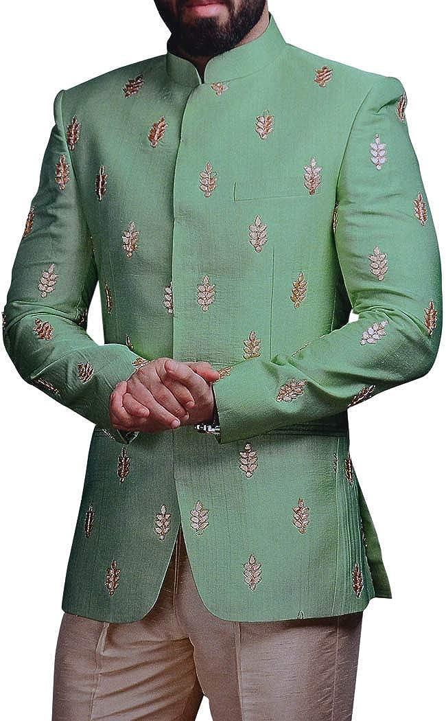INMONARCH Groom Green Embroidered Jodhpuri Suits Indian Wedding Jodhpuri JO1110