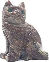 Nelson Creations, LLC Cat Natural Soapstone Hand-Carved Animal Charm Totem Stone Carving Figurine, 2 Inch