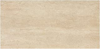 Samson 1036720 Travertini Polished Floor and Wall Tile, 12X24-Inch, Cream, 7-Pack