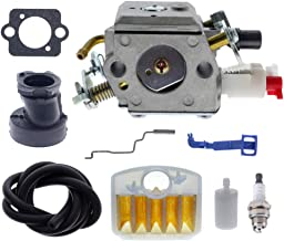 ANTO Carburetor for Husqvarna 340 345 346 XP 350 351 353 Chainsaw Replace 503283208 Single Tube Carburetor with Air Filter Fuel Line Intake Manifold Kit