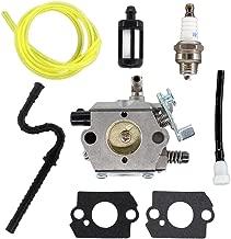 USPEEDA Carburetor for Stihl 028 028AV 028 SUPER WT-16B Tillotson HU-40 11181200600 11181200601 Chainsaw Fuel Line Tank Vent Fuel Filter Spark Plug