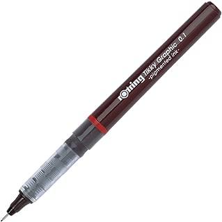 rOtring Tikky Fine Liner Fiber Tip Graphic Pen, 0.1 mm, Black Ink (1904750)