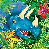 Unique Party 58312 - Tovaglioli di Carta - Festa a Tema Dinosauri - Confezione da 16