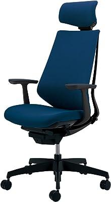 コクヨ デュオラ イス オフィスチェア プルシアンブルー 布張り ヘッドレスト デスクチェア 事務椅子 シンプルデザイン多機能チェア CR-G3105E6KZT6-WN 【ラクラク納品サービス】