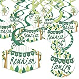 Big Dot of Happiness Family Tree Reunion - Family Gathering Party Hanging Decor - Party Decoration Swirls - Set of 40
