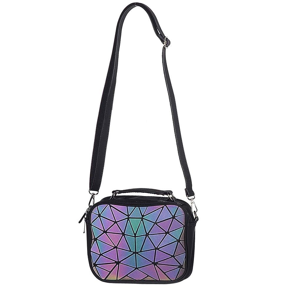 Geometric Purse Holographic Handbag Luminous Satchel Crossbody Wallet Clutch Bags for Women