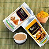 Online Quality Store Kasturi Turmeric Powder for Face(100 Grams) + Sandalwood Powder Pure Organic for Skin Whitening(100 Grams) - 2 in 1 Combo Pack, Total 200g