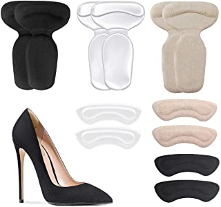 Heel Cushion Inserts, Reusable Soft Shoe Inserts Heel Cushion Pads Self-Adhesive Foot Care Protector Grips Liners Loose Shoes - Heel Pain Relief Bunion Callus Blisters- 6 Pairs
